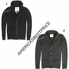 ABERCROMBIE & FITCH NEW MENS CARDIGAN SWEATER,DARK GRAY&MEDIUM GRAY,NWT