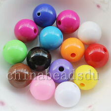 Czech Opaque Coated Acrylic Round Beads 6mm 8mm 10mm 12mm 14mm 16mm 18MM 20MM