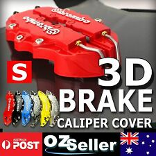 Front & Rear Red 3D Brembo Style Disc Brake Caliper Cover + Free Glue For Holden