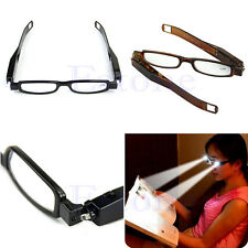 LED Multi Strength 360° Glasses Eyeglass Spectacle Diopter Magnifier Light UP