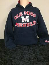 Ole Miss Rebels Team Apparel Youth Pullover Navy Hoodie
