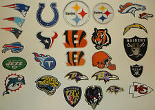 National Football League Team Patch~Embroidered~Iron OR Sew on~NFL~FREE Shipping
