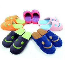 Cute velvet Women Unisex Anti-slip Smile face Slippers Indoor House Warm warmer
