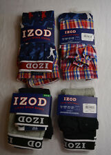 IZOD Boys 2 Pack Cotton Boxer Briefs, Knit or Woven Boxers Many Sizes NWT $14