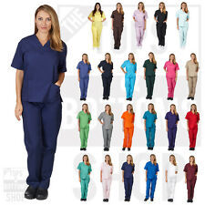 Unisex Men/Women Natural Uniforms Medical Hospital Nursing Scrub Set Top/Pants