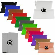 New 360° Rotating Leather Smart Stand Case Cover For IPad Air,Ipad 4,3,2 & Mini