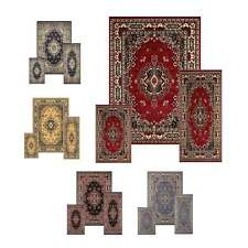 Rugs Carpet Traditional 3 Piece Set Area Rug Mat Oriental Bordered Runner Floor
