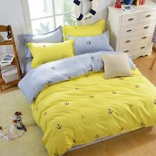 Sail Yellow Single Double Queen King Size Bed Set Pillowcase Quilt Duvet Cover