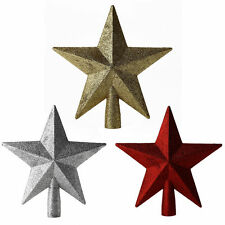 Gold/Red/Silver Glitter Star Christmas Tree Topper Decoration Xmas Gift Ornamens