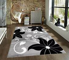 Floral Modern Carpet Area Rug Floor Oriental Rugs Plush Gray Decor Contemporary