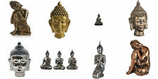 Buddha Ornaments Choice of 8 Kneeling, Sitting, Head or Wall Art Decorative