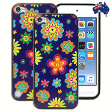 NEW Blue Hippie Flowers Case for Apple iPod Touch 5 5th 6 6th Gen itouch Cover