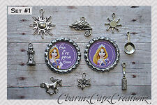 10 pc Tangled Inspired Charm Set/Lot/Collection with Bottle Caps /Choose Set/ #1