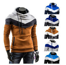 New Men's Casual Warm Hoodies Slim Hooded Sweatshirt Coat Jacket Outwear Sweater