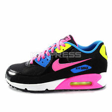 Nike Air Max 90 Mesh GS [724855-004] NSW Running Black/Pink-White-Blue