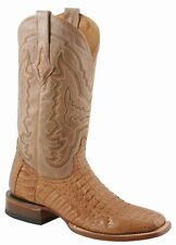 LUCCHESE Since 1883 M4541.TWF MENS TAN MAD DOG HORNBACK CROCODILE BOOTS
