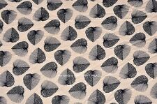 Floral Leaf Cotton Voile Hand Block Print Fabric Natural Dyes Sanganer Indian