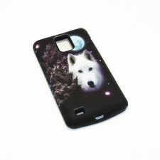 Full Moon White Wolf Hybrid ShockProof Cover Case For Samsung Infuse 4G I997