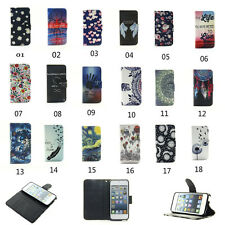 NEW Luxury Flat Leather Flip Stand Wallet Case Cover For iPod Touch 6th 5th Gen