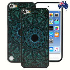 Green Black Mandala Hard Case for Apple iPod Touch 5 5th 6 6th Gen Cover