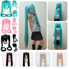 UK Post Vocaloid Hatsune Miku Show Anime Wig Long Cosplay Party Hair Full Wigs r