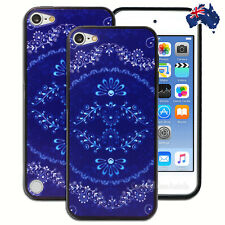 Blue Patterned Hard Back Case for Apple iPod Touch 5 5th 6 6th Gen Cover