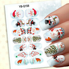 Hot 1 Set 14pcs Christmas Design 3D Nail Art Stickers Decals Nail Decoration