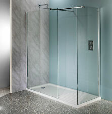1200mm Walk In Shower Enclosure Wet Room Easyclean 10mm Glass Tall Screen Panel