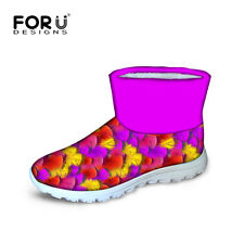 Womens Girls Waterproof Snow Ankle Boots Winter Thicken Warm Boots Flat Shoes