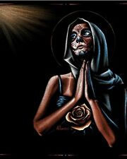 Prayer Fine Art Print by Marco Almera Day of the Dead Praying Virgin Mary