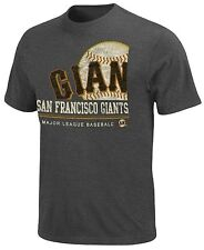 San Francisco Giants MLB Mens On Deck Charcoal Heather Shirt Big & Tall Sizes