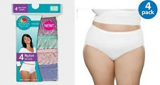 Fruit of the Loom Women's White/Assorted PLUS Nylon Briefs 4/8-Pack FIT FOR ME