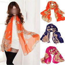 Pretty Women Lady Girl Soft Wrap Lady Shawl Leopard Print Chiffon Scarf Stole