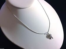 """Turtle Necklace-Solid Sterling Silver .925-Box Chain-Charm-Pendant-16"""""""