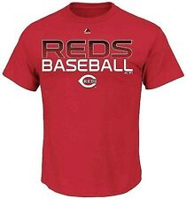 Cincinnati Reds MLB Majestic Men's Red Graphic Tee Shirt Size XLT