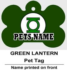 GREEN LANTERN Personalized PET ID TAG Custom Any Name Dog Tag Printed 2 Sides
