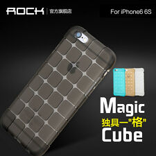 ROCK for iPhone 6 6s 4.7 Plus 5.5 Cube Pattern Transparent TPU Protective Case