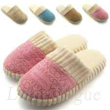 Beauty Letters Home indoor Shoes Men Women Furry Cotton Slides Slippers 049jh