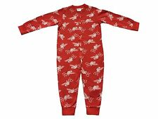 Ex LFC Official Onsie Sleepsuit Pyjamas Boys Girls Red Liverpool Football Club