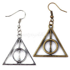 2 Pairs Unisex Punk Hollow Triangle Dangle Earrings Cartilage Ear Cuff Eardrop