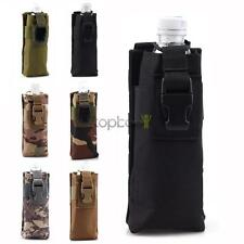 MOLLE Tactical Open Top Water 20 oz Bottle Pouch Carry Bag for Outdoor