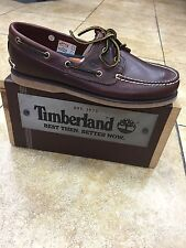 Timberland Mens Boat Shoes Classic 2-eye Rootbeer Brown Leather 25077