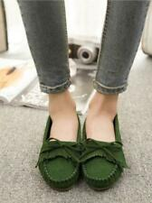 Womens fashion casual breathable Peas shoes tassel bow flat shoes Loafers Size