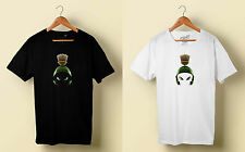 MARVIN THE MARTIAN Black/White T-Shirt Tee Size S - 3XL tr1