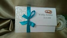 Wedding Invitations Handmade with Envelopes, FREE RSVP card, -Free postage--