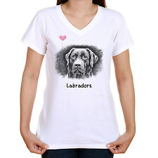 LABRADOR IMAGE T SHIRT STANDARD OR LADYFIT OUR TEXT OR CHOOSE YOUR OWN
