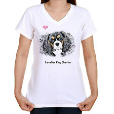 CAVALIER KING CHARLES T SHIRT STANDARD OR LADYFIT OUR TEXT OR CHOOSE YOUR OWN