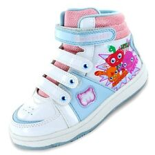 Moshi Monsters Hi Top Girls Trainers - White/Blue/Pink (8,9,10,11,12,13,1,2)