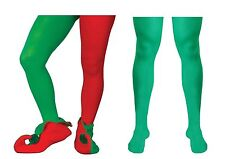 Mens Green Tights Red and Green Elf Pixie Robin Hood Christmas Play Theatre
