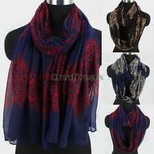 Womens Vintage Style Porcelain Printing Long Scarf Wrap Shawl/Infinity Scarf New